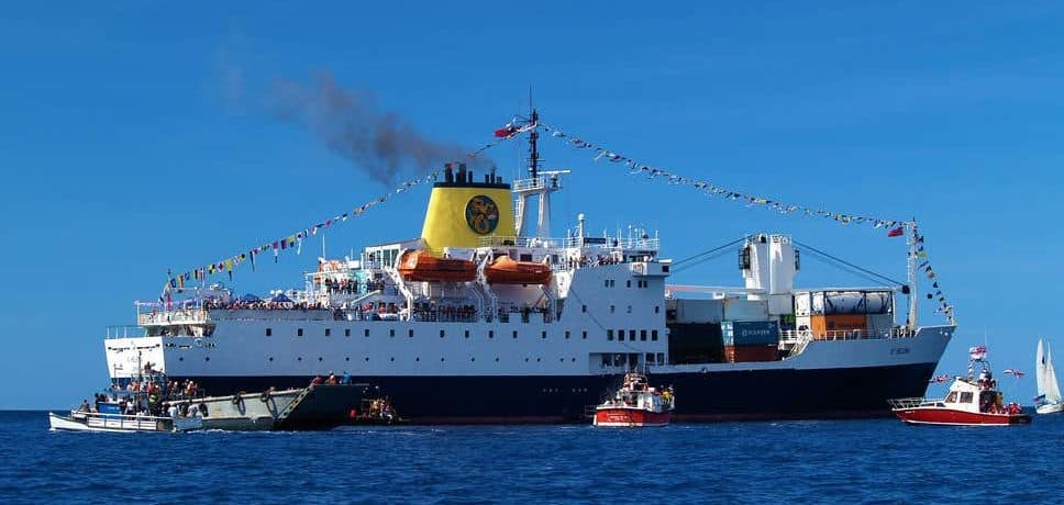 RMS St Helena in James Bay - St Helena